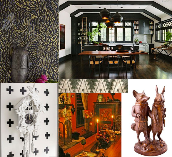 Interior design inspiration from the region and culture of the Black Forest sources for purchase listed at the end of post