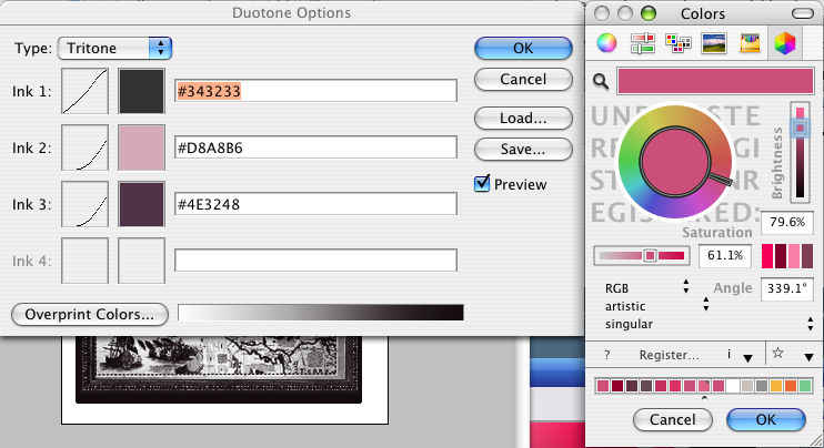 dialog box for naming your colors found in image duotone options mode
