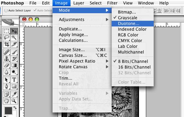 dialog box for image duotone mode