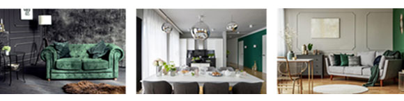 Color of the Year Emerald with Interior Design