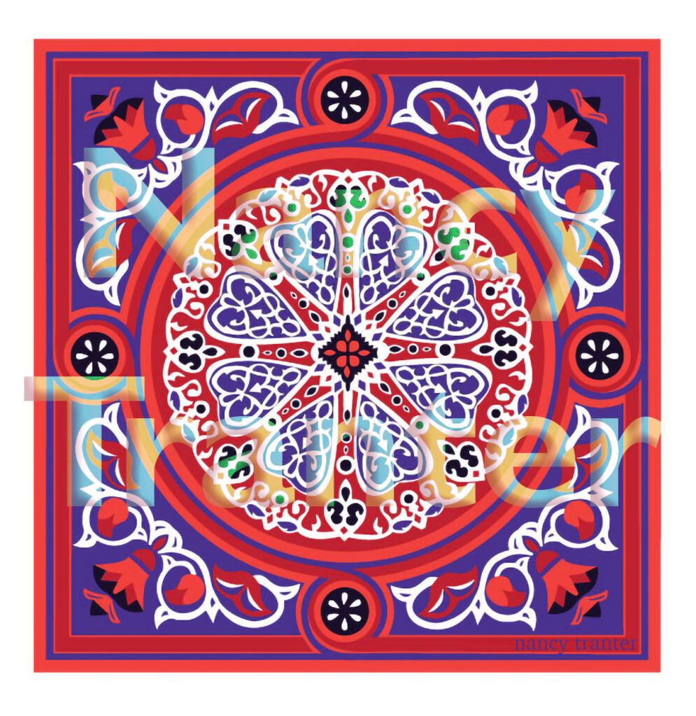 Vector Mandala Digital Art Designs by Motif Artist Nancy Tranter