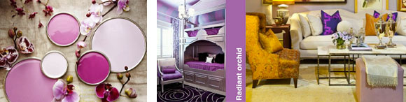 Radiant Orchid as Interior Design